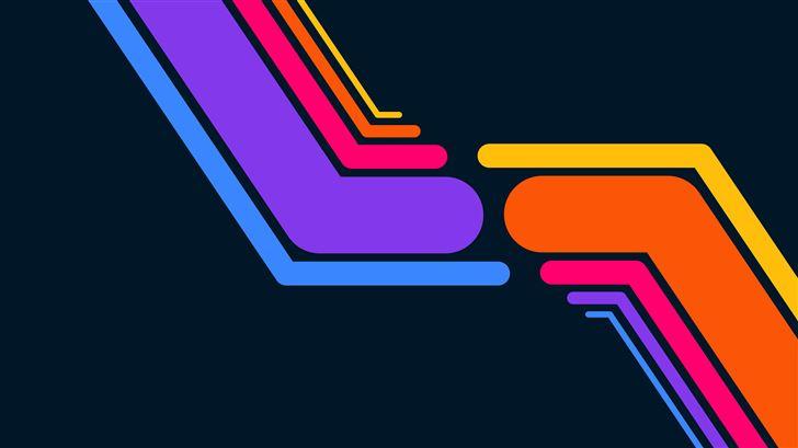 dark lines colorful minimal 8k Mac Wallpaper