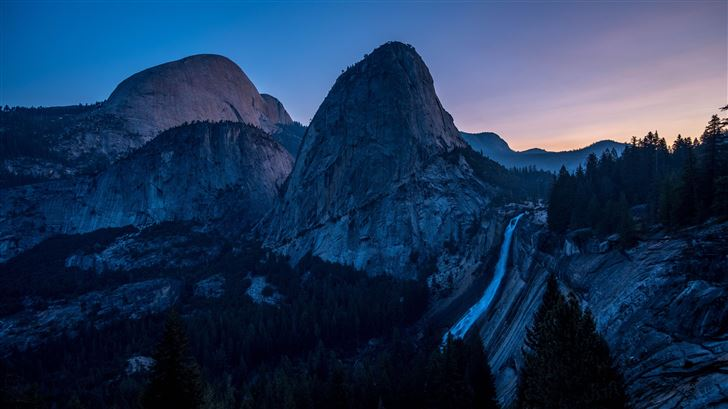 sunrise yosemite valley 5k Mac Wallpaper