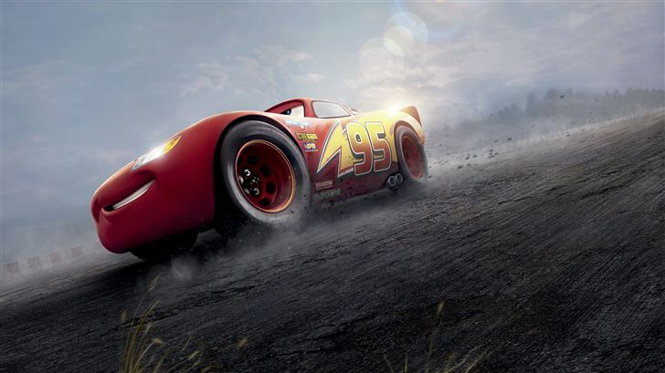 cars 3 red lightning mcqueen 8k Mac Wallpaper