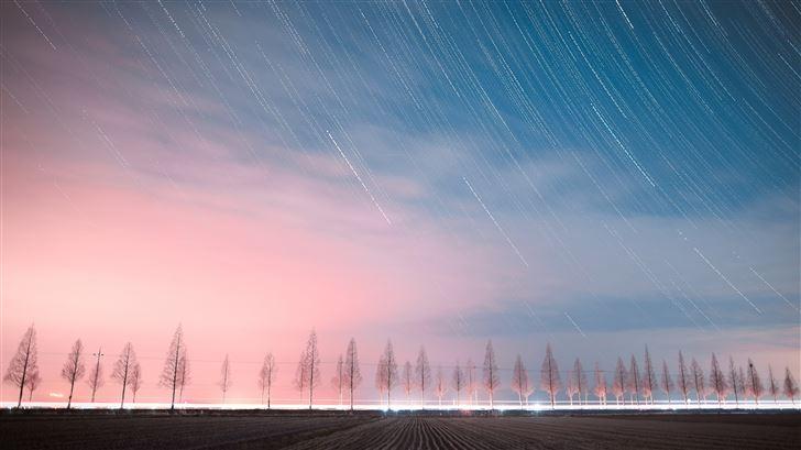 the night sky 4k Mac Wallpaper