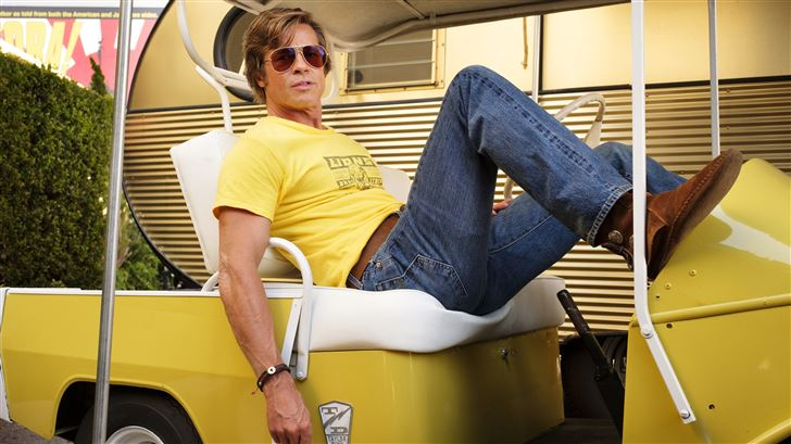 brad pitt in once upon a time in hollywood Mac Wallpaper