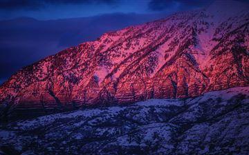 mountain sunset 5k iMac wallpaper