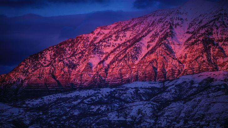 mountain sunset 5k Mac Wallpaper