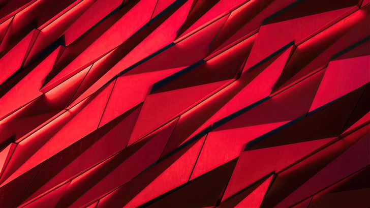 red sharp shapes texture 4k Mac Wallpaper