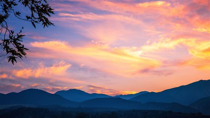 beautiful orange sunset 5k Mac Wallpaper