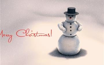 Christmas snowman Mac wallpaper