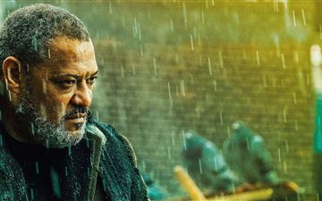laurence fishburne as bowery king in john wick cha MacBook Air wallpaper