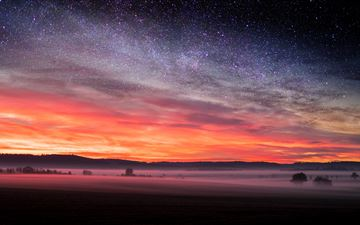 starry night sunset skyscape stars 5k MacBook Air wallpaper