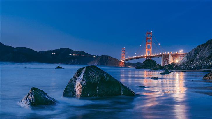 golden gate bridge sunset 8k Mac Wallpaper