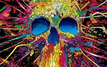 Graffiti Skull All Mac wallpaper