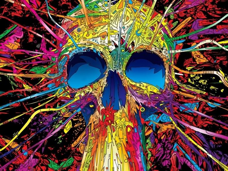Graffiti Skull Mac Wallpaper