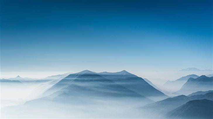 mountain ridge 5k Mac Wallpaper