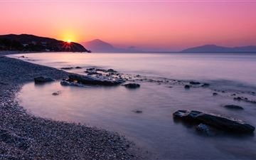 sunrise at faros 5k MacBook Air wallpaper