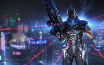 cyber hunter iMac wallpaper