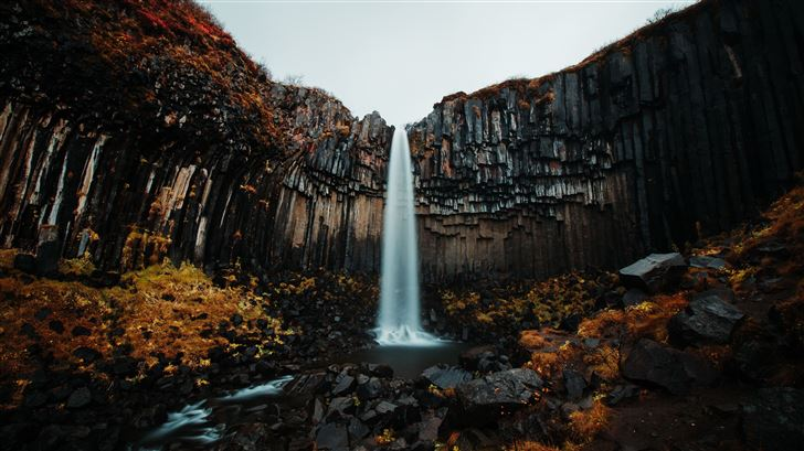 waterfall forest 5k Mac Wallpaper
