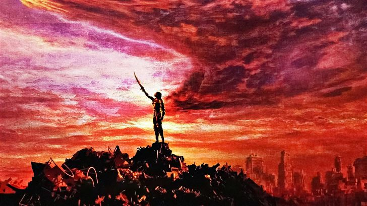 alita battle angel movie 5k Mac Wallpaper