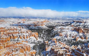 snow at bryce canyon national park 5k iMac wallpaper