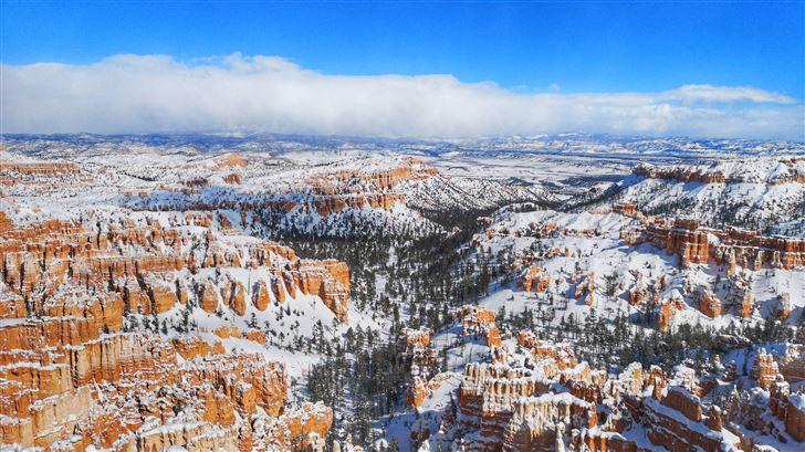 snow at bryce canyon national park 5k Mac Wallpaper