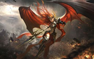 league of angels 2 theresa 5k iMac wallpaper
