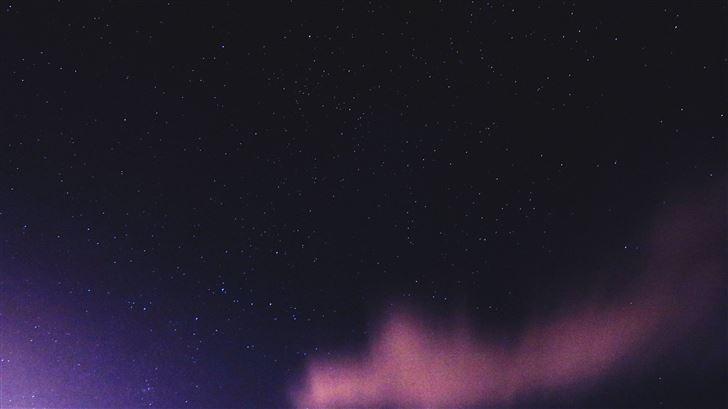 purple starry sky 5k Mac Wallpaper