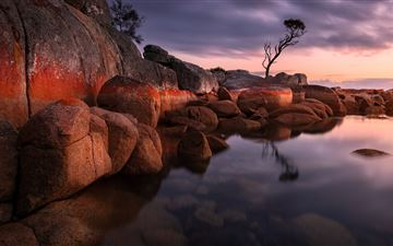 evening bay of fires 5k All Mac wallpaper