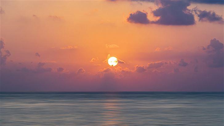 maldive islands sunrise 5k Mac Wallpaper
