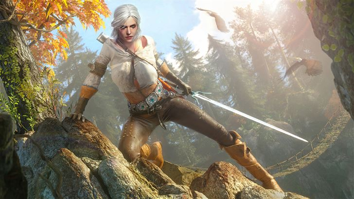ciri the witcher wild hunt 3 5k Mac Wallpaper