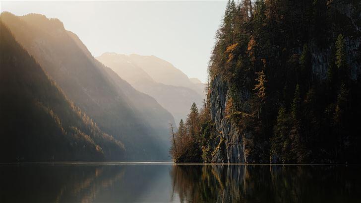 koenigssee lake in germany 5k Mac Wallpaper