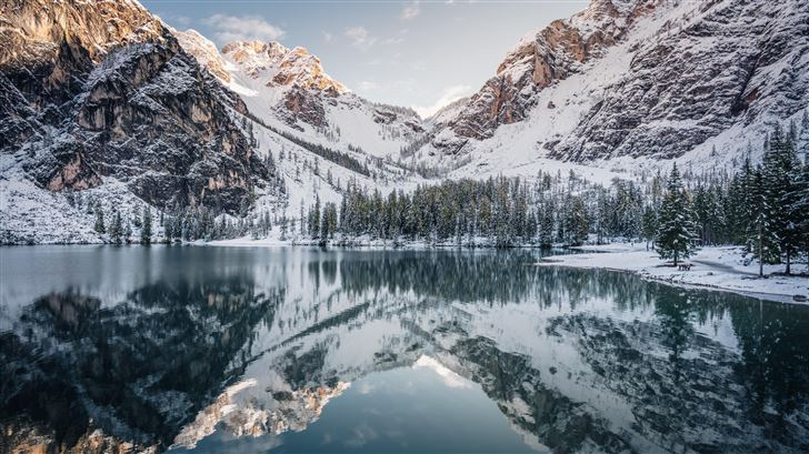 snow covered mountains 8k Mac Wallpaper
