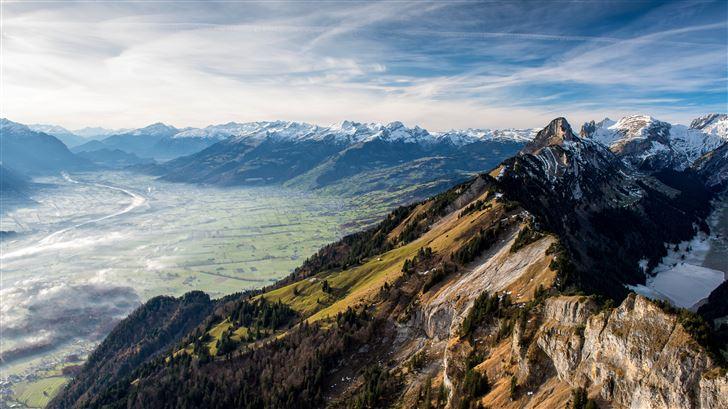 hoher kasten alps valley 5k Mac Wallpaper