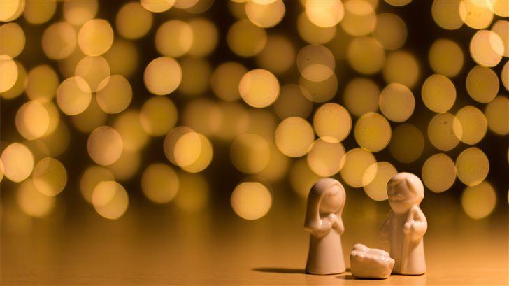 shallow focus photo of the Nativity figurine Mac Wallpaper