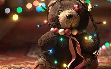 Christmas teddy bear Mac wallpaper
