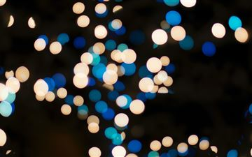 blue and brown bookeh lights All Mac wallpaper