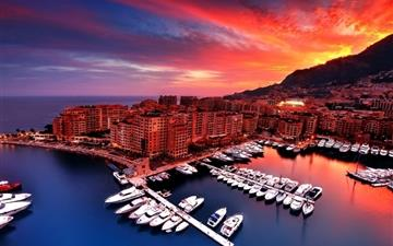 Monaco sunset MacBook Air wallpaper