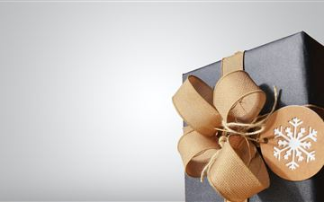 brown and black gift box MacBook Air wallpaper