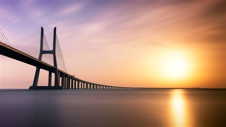 vasco da gama bridge 5k Mac Wallpaper
