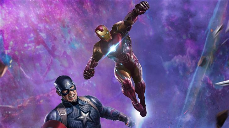 iron man and captain america in avengers end game Mac Wallpaper