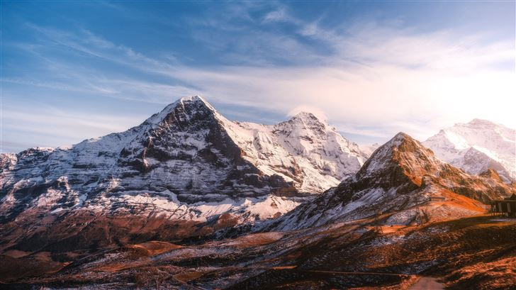 nature landscape mountains 5k Mac Wallpaper