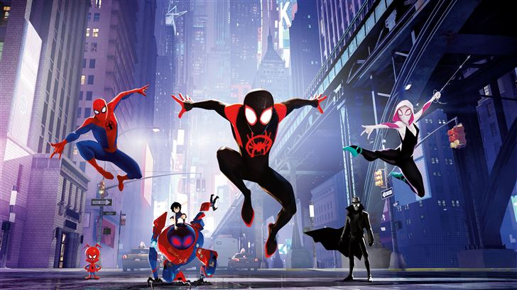 spiderman into the spiderverse 15k Mac Wallpaper