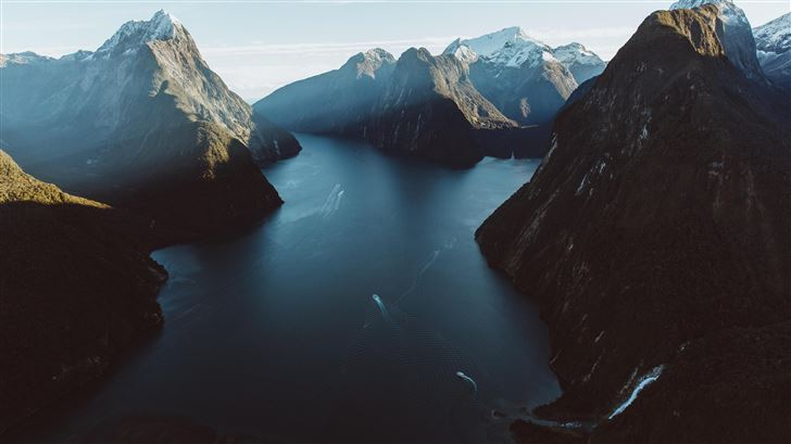 milford sound new zealand 5k Mac Wallpaper