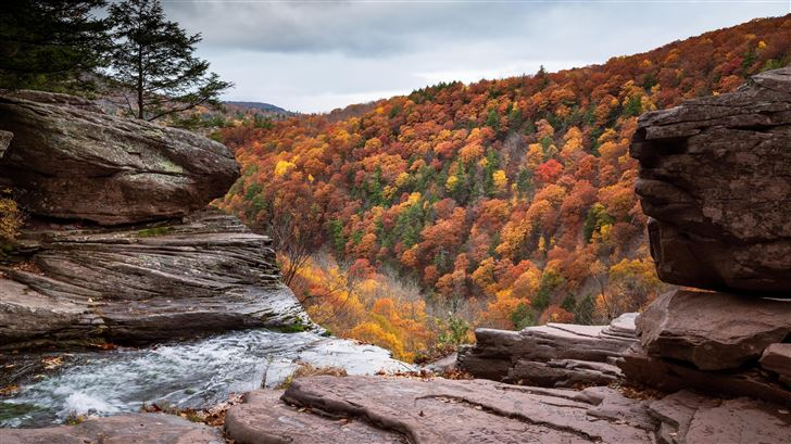 kaaterskill falls 5k Mac Wallpaper