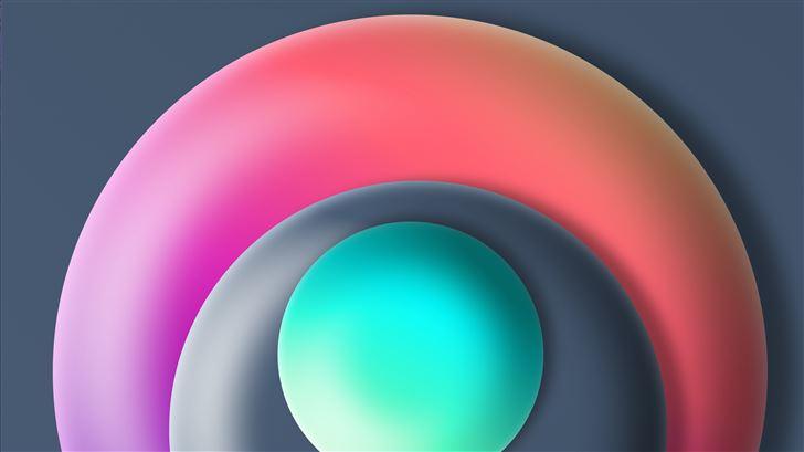 ball abstract 3d 8k Mac Wallpaper