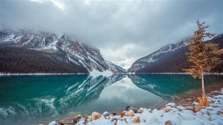 lake louise canada 8k Mac Wallpaper
