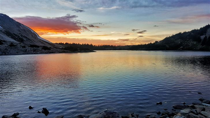 sunset over north gap lake 5k Mac Wallpaper