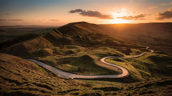 mam tor castleton united kingdom 8k Mac Wallpaper