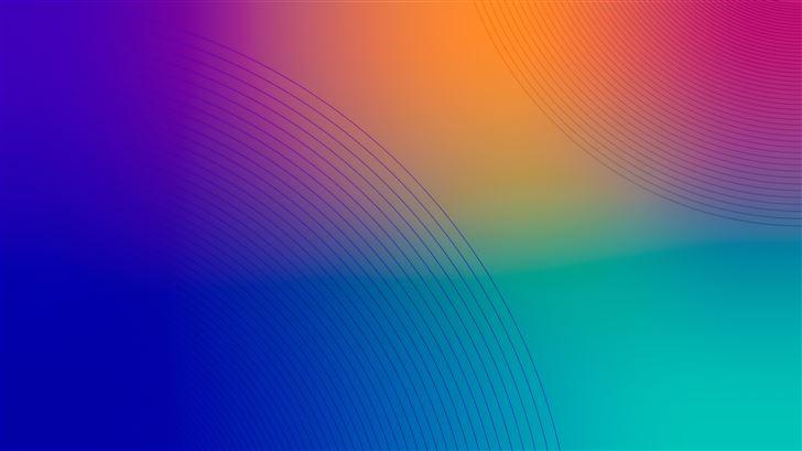 lines circle shapes 8k Mac Wallpaper