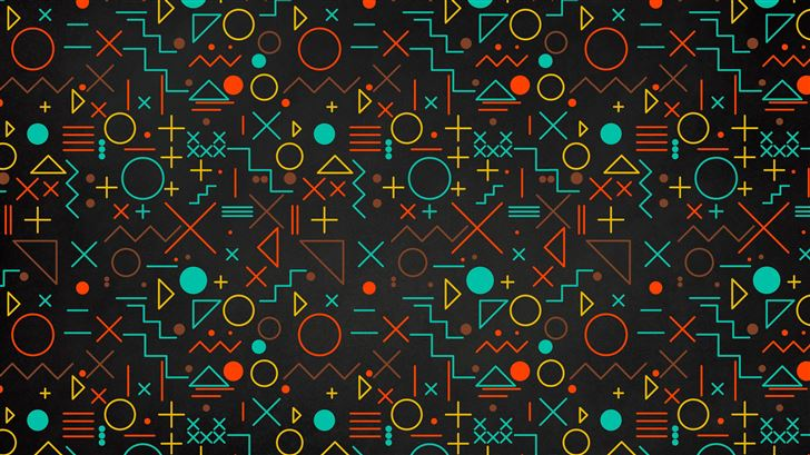geometry shapes abstract 5k Mac Wallpaper