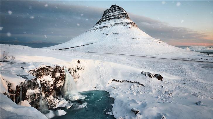 mountains snow winter 5k Mac Wallpaper