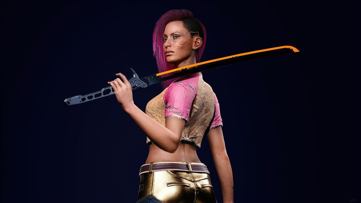 cyberpunk 2077 v Mac Wallpaper