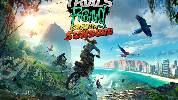 2019 trials rising crash and sunburn 8k Mac Wallpaper